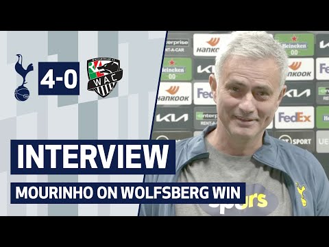 INTERVIEW   Spurs 4-0 Wolfsberger AC   Mourinho talks after qualifying for UEL Last 16