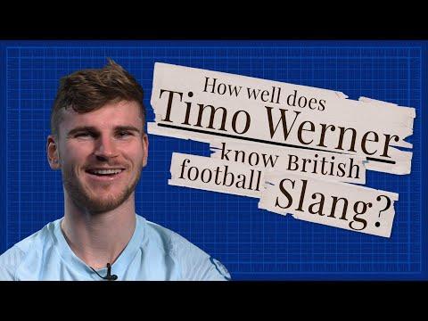 """Goal-hanger? Oh it's me!"" 🤣   Timo Werner learns British football slang"