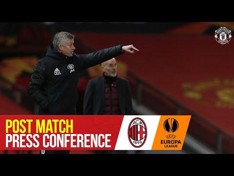Ole Gunnar Solskjaer | Post Match Press Conference | Manchester United 1-1 AC Milan