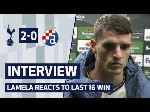 "Erik Lamela: ""We were in control. A solid performance."" | SPURS 2-0 DINAMO ZAGREB"