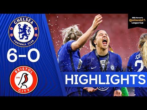 Chelsea 6-0 Bristol City | Kerr Hat Trick Fires Blues to Trophy! | Women's Continental League Cup