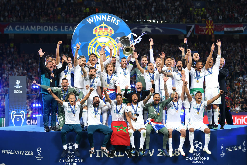 Real Madrid lift the Champions League