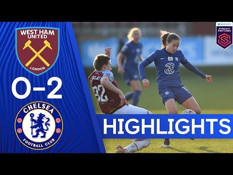 West Ham 0-2 Chelsea   Kerr & England Goals See Blues To Victory   Women's Super League