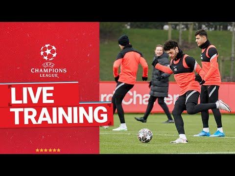 Live Champions League training: Liverpool prepare for Leipzig