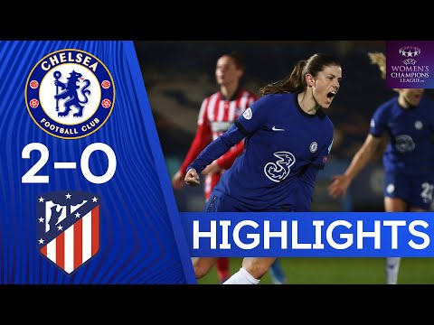 Chelsea 2-0 Atlético Madrid | Mjelde and Kirby Secure Superb Victory | UEFA Women's Champion League